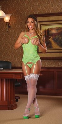 MS-B618 Neon Cupless Lace Bustier