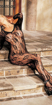 SH90003 Floral Lace Bodystocking