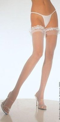 LA9200 Lace Garter topped Stocking