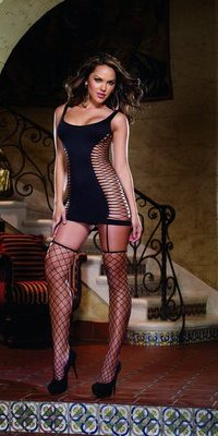 DG0102 Fence Net Garter Dress
