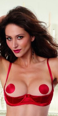 DG9385 Satin Open Cup Shelf Bra