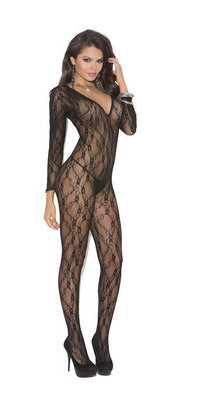 EM1619 Lace and Long Sleeve Body Stocking
