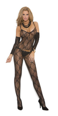 EM-1604 Bow Lace Bodystocking