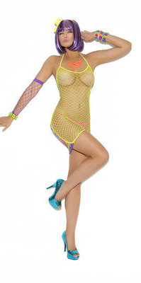 EM8305 Diamond Net Mini Dress