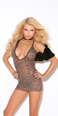EM8512 Deep V Mini Dress