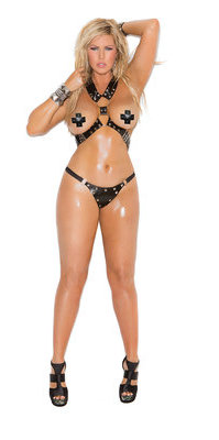 EM-L1952X Leather Harness & G-string Set