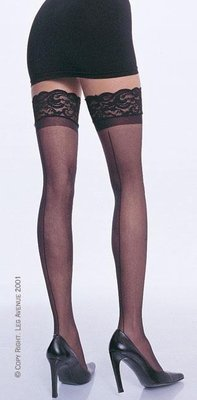LA1101 Lace Topped Thigh Hi Stocking
