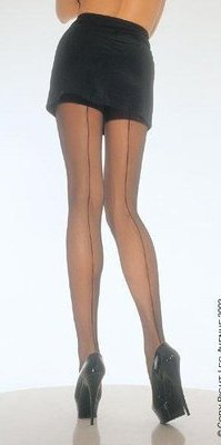 LA9002 Back Seam Pantyhose