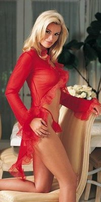 LA8925 Sheer Mesh Robe Set