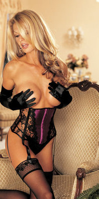 SH623 Boobless Satin & Lace Waist Cincher