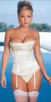 RALingerie.com: SH9001 Floral Tapestry Strapless Corset